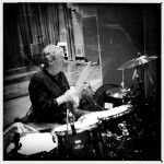 Nick Mason soundchecking the drums