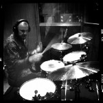 Steve Rushton soundchecking the drums