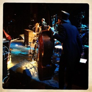 Duke Special & Simon Little on stage at Shepherds Bush Empire